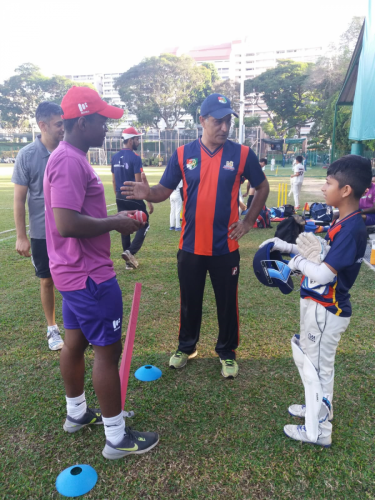 EPS OVERSEAS PLAYERS VISIT SCA ACADEMY